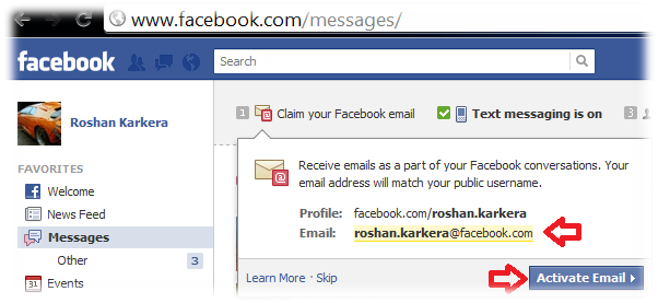 can see you email id here which is been set acceding to your Facebook ...